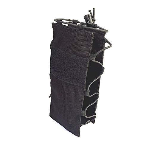 Extérieur Sac Tactique réglable Bouteille d'eau Tactique Bouteille Poche Pliable Molle Porte-Eau Fixation Porte pour Sac à Dos/Sac de Taille/Ceinture Noire