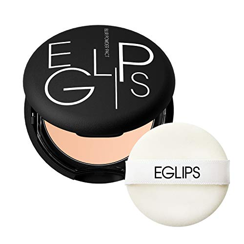 EGLIPS Blur Powder Pact_21 9g/0.32oz - Pressed Powder Pact with Mirror and Powder Puff   Setting Powder   Face Powder   Makeup Powder   Finishing Powder   Compact Powder   Sebum Control