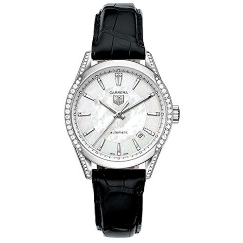 Tag Heuer Reloj Analógico para Mujer de Automático con Correa en Cuero WV2212.FC6302