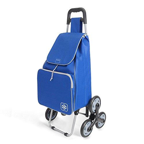 Metaltex Peony Einkaufstrolley, mit 6Rädern, Metall, 120x 60x 6cm 120x60x6 cm blau