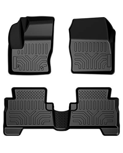 Floor Mats Compatible with Ford Escape 2013-2019, All Weather Guard Floor Mat Floor Liners, Front & Rear Full Set