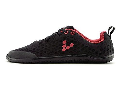Vivobarefoot Women's Stealth 2-w, Black/Red, 36 EU/6-6.5 M US