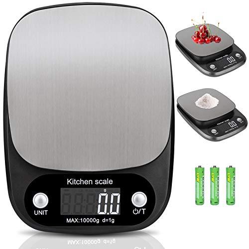 Báscula de Cocina Digital,10kg / 22 lbs,Balanza de Alimentos Multifuncional,Peso de Cocina,nero