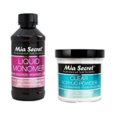 INCLUDES LIQUID MONOMER 4oz + Clear ACRYLIC POWDER 4oz CLEAR ACRYLIC POWDER - provides an ideal consistency and activation time, superior adhesion and is long-lasting. It has a self-leveling and non-yellowing formula that requires minimum filing. LIQ...