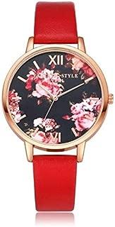 Fashion Watches Lvpai P086Leather Strap Flower Dial Quartz Wrist Watch