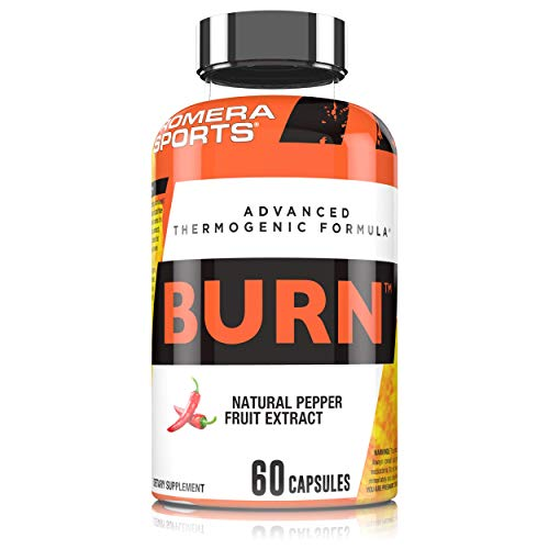 Promera Sports Burn Advanced Thermogenic Formula with Natural Pepper Fruit Extract, Provides Clean Energy with Zero Crash, Boosts Metabolism Naturally, Vegan Friendly, Gluten Free, 60 Capsules