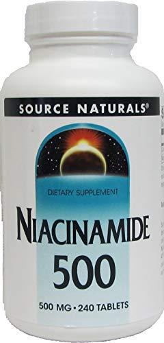 海外直送 Niacinamide 500 mg 240 tabs - ソースナチュラルズ ナイアシンアミド 500 mg 240タブレット