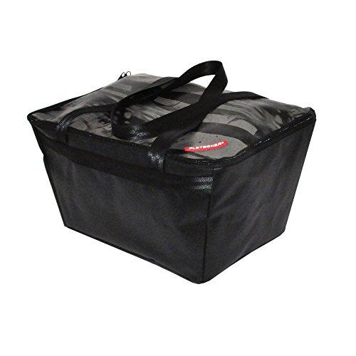 Pletscher Unisex– Erwachsene Deluxe Fahrradkorb, schwarz, 1size