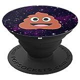 Kothäufchen Smiley Emoji Weltraum - PopSockets Ausziehbarer Sockel und Griff für Smartphones und Tablets