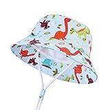 LANGZHEN Sun Protection Hat for Kids Toddler Boys Girls Wide Brim Summer Play Hat Cotton Baby Bucket...