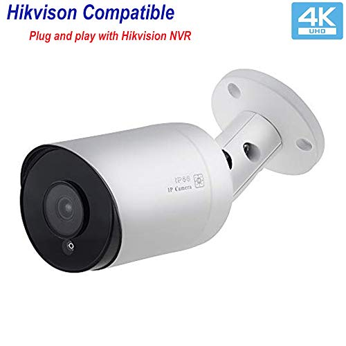 Buy Bargain (Hikvision Compatible) UltraHD 4K 8MP Outdoor Bullet Security POE IP Camera VK-IMB68-AS,...