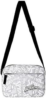 Miniso MARVEL Crossbody Bag,Light GreyVintage Canvas Bag,Men's Crossbody Shoulder Tablet Bag Lightweight Small Satchel Bag...