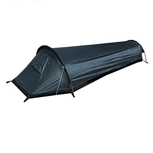BAJIE tent Portable Adults Hiking Travel Sleeping Bag Outdoor Fishing Camping Tent Single Person Thermal Ultralight Backpacking Bivy Sack Green