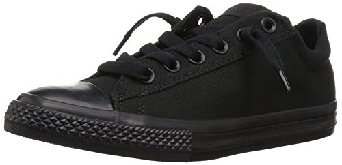 Converse Kids' Chuck Taylor All Star Street Ox (Little Big),Black Mono,1.5 M US Little Kid