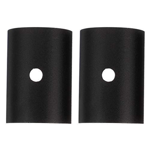 Abaodam 1 par 25. 4mm a 31. 8mm Manillar Shim Bicicletas Agarraderas Espaciadores Aleación de Aluminio Manillar Conversión Cuñas (Negro)