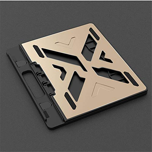 ROGF Computer stand Multifunctional Foldable Computer Stand Suitable For Laptops And Tablets For laptop (Color : Gold, Size : 28x25x1.3cm)