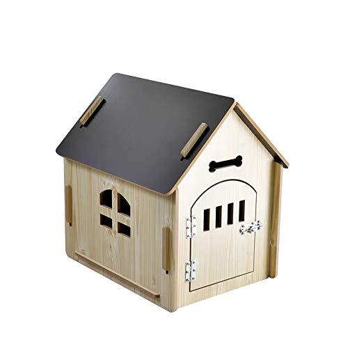Caseta de Madera Casa para Perro/Gato con Puerta Casa de Per