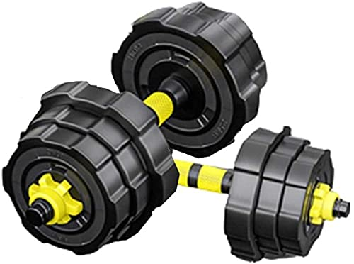 Mancuernas de Fitness para el hogar de Hombres para Hombres de 20/30/40 kg Equipo de Ejercicio con Barra de Navidad Ajustable (Color: Negro Tamaño: 40kg (20 kg * 2))