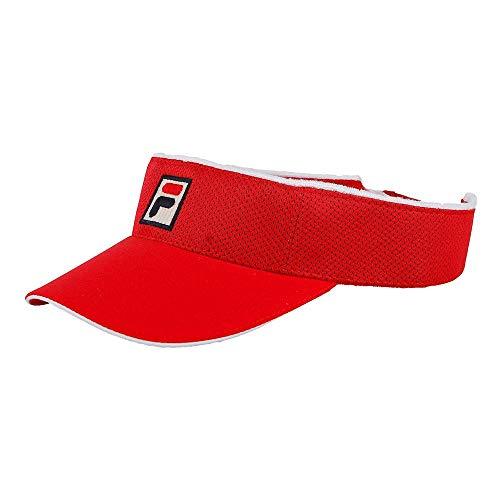 Fila, Vuckonic Mesh Visor-Rot, Weiß, nosize Kopfbedeckungen