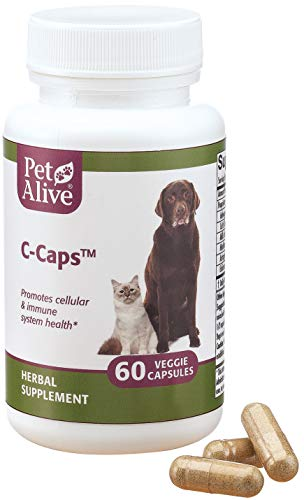 PetAlive C-Caps - All Natural Herbal Supplement Promotes Cellular and Immune System Health in Dogs and Cats - 60 Veggie Caps
