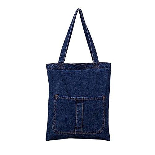 Espeedy Moda Mujer Messenger Bolsos bolso de mezclilla vaqueros Lady Clutches Casual Bolsa de hombro