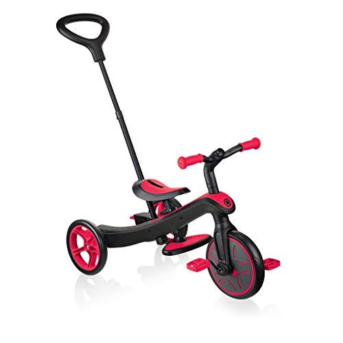 GLOBBER 三輪車 キックバイク ペダル付き エクスプローラー トライク 3in1 レッド WLGB631102 変身バイク 3段階変形 ベビー 18ヵ月 1歳 2歳 3歳 4歳 5歳 外遊び 自転車デビュー 自転車準備