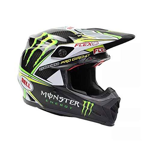 Bell Helmets Herren BH 7070670 Bell MX 2017 Moto-9 Flex Erwachsene Helm (Pro Circuit Monster Replica) Größe 2XL, XXL