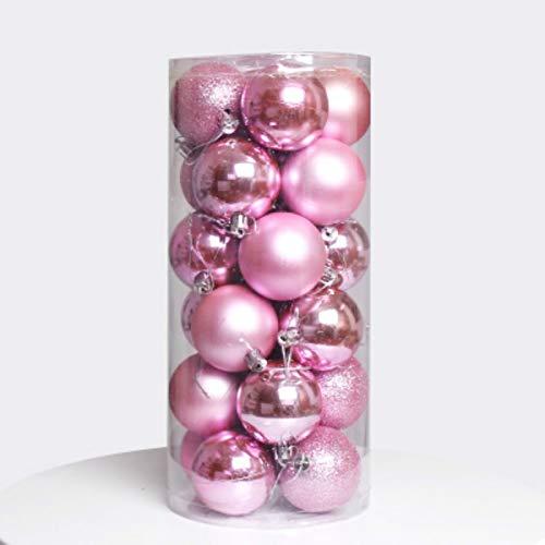 NZBZ Adornos de Navidad, adornos para árbol de Navidad, 24 bolas irrompibles, utilizados para adornos navideños, adornos navideños (diámetro de 6 cm)
