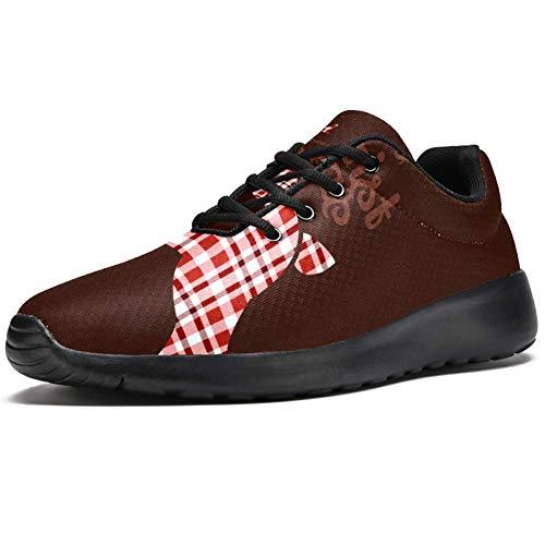 Iobaby - Zapatillas deportivas para correr para mujer, diseño de ciervos, malla transpirable, senderismo, tenis, color Multicolor, talla 38.5 EU