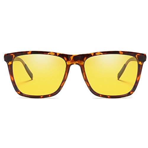 QCSMegy Gafas de sol para hombre de moda polarizadas coloridas gafas de sol metálicas marron/amarillo hombres y mujeres nuevas gafas de sol de conducción (color: amarillo)