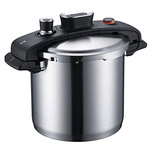 LJXWH Pote de Acero Inoxidable Pote 6L Pote de Sopa de Sopa para el hogar Cocina Comercial Pote de Sopa de cocción Se Puede Utilizar en Suministros de hoteles de Cocina (Color : Silver, Size : 6l)