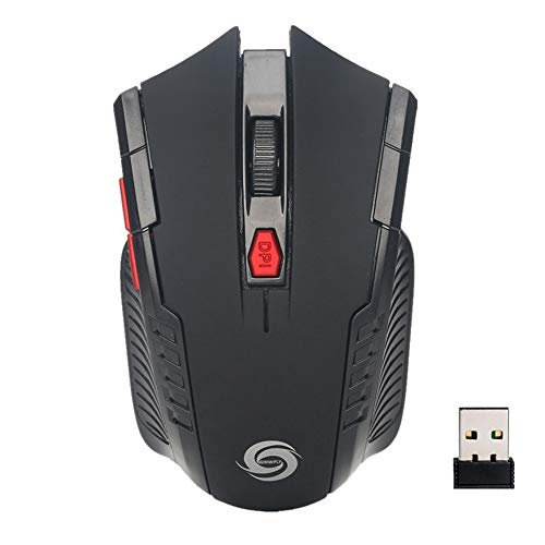 2.4G Wireless Gaming Mouse Desktop Notebook Business Office Computer Mice 6 Keys (Black)