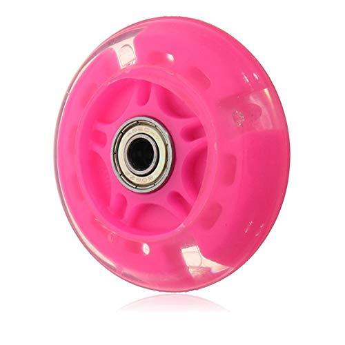 Morninganswer 80Mm Led Flash Wheel Mini o Maxi Scooter Duradero Luces Intermitentes Trasera Trasera ABEC-7 Rosa