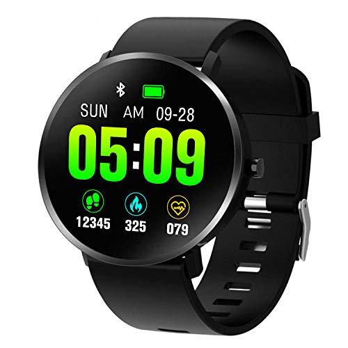 Yumanluo Smart Band Smart Watch,Monitorización de frecuencia cardíaca/presión Arterial/sueño, Pulsera Deportiva-Negro,Pulsera Inteligente con Pulsómetro