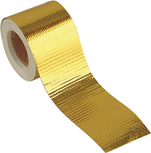 Design Engineering 010394 Reflect-A-GOLD High-Temperature Heat Reflective Adhesive Backed Roll, 1.5″ x 15′ Roll