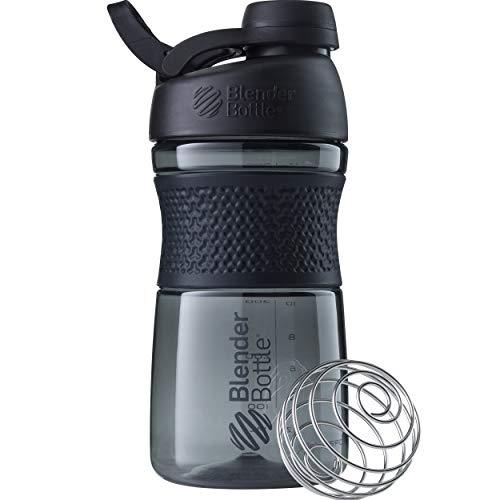 BlenderBottle Sportmixer Twist Black Botella mezcladora, Unisex Adulto, 590ml
