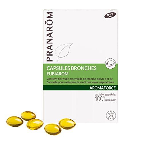 Pranarôm - Aromaforce - Capsules Bronches Bio - Maintien la Santé des Voies Respiratoires - 30 Capsules