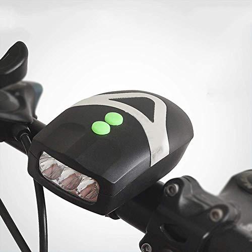 Hwenli LED Fahrrad Frontleuchte, 1200 Lumen Wasserdicht Fahrrad-Licht-Quick Release Fahrrad-Fahrrad-Licht Mit 3 Modi Und 90 Db Horn Geeignet,Grün
