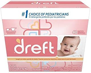 Dreft Baby Original Scent Powder Laundry Detergent,Recommended by Pampers, 40 Loads, 53 oz (1) (1)
