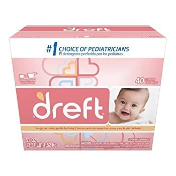 Dreft Baby Original Scent Powder Laundry Detergent,Recommended by Pampers 40 Loads 53 oz  1   1