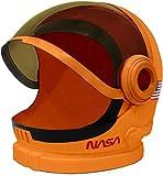 Casco de Astronauta Naranja con Visera Móvil Juego de Juguete de Simulación para Niños.