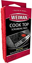 Weiman Cook Top Scrubbing Pads – Gently Clean and Remove Burned-on Food from All Smooth Top and Glass Cooktop Ranges, 3 reusable pads