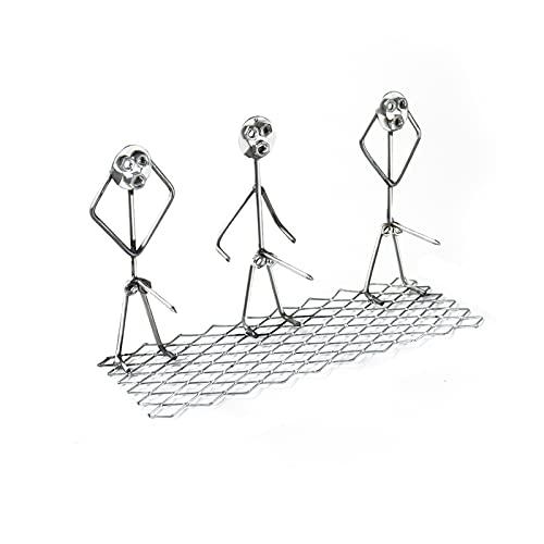 AIORNIY Stahl Hot Dog/Marshmallow Röster, Metall BBQ Hotdog Und Marshmallow Röster Set, Lustige Metall Craft Grillgabeln Geformt Edelstahl Lagerfeuer Bratstab, Metal Craft Spieß Stick