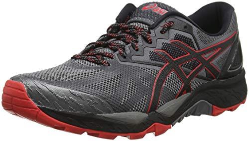 Asics Gel-Fujitrabuco 6, Zapatillas de Running para Hombre, Gris (Carbon/Red Alert 020), 47 EU