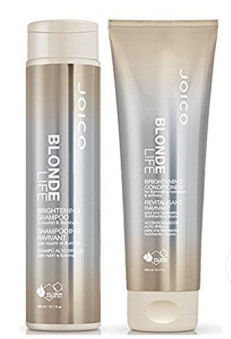 Blonde Life by Joico Joico Blonde vie éclaircissant Shampooing et revitalisant Duo Set (avec Sleek Mirror Compact) 10,1 oz + 8,5 oz Kit DUO