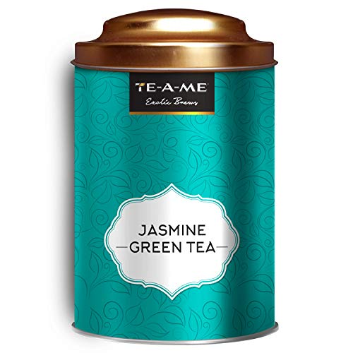 TE-A-ME Jasmine Green Tea Tin, 50 GMS