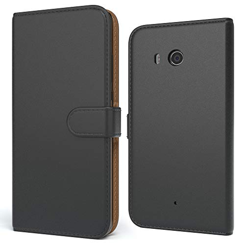 EAZY CASE Tasche kompatibel mit Xiaomi Mi 8 Lite Schutzhülle mit Standfunktion Klapphülle im Bookstyle, Handytasche Handyhülle Flip Cover mit Magnetverschluss & Kartenfach, Kunstleder, Schwarz