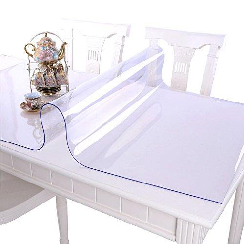 EGROON PVC製 透明 テーブルクロス テーブルマット デスクマット マット テーブルカバー 長方形 厚さ2mm 防水 耐久 汚れ防止 90*150CM