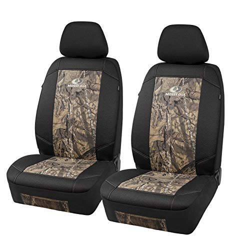 MOSSY Oak Low Back Camo Seat Covers, Airbag Compatible, Universial Fit, Fit Most Bucket Seats - Made with Premium Cotton Twill - Official Licensed Product