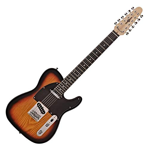Knoxville Deluxe 12-saitige E-Gitarre von Gear4music Sunburst